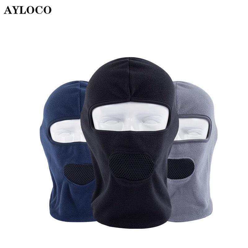 Thermal Fleece Balaclava Hat Hood Bike Wind Stopper Face Mask  Neck Warmer Winter Fleece Motorcycle Neck Helmet Cap