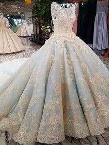 Image 3 - Vestido De Noiva luksusowe wysokiej jakości zroszony vintage kulka suknia ślubna suknie ślubne 2018 suknie ślubne suknia dla panny młodej Brautkleid mięta niebieski