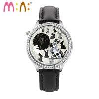 Luxury Brand Ladies Watch Fashion Waterproof 3D Rabbit Bracelet Women Quartz Wrist Watch Clock Woman 2017 saat Relogio Feminino