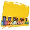 Colorido Estudantes Crianças Brinquedos Instrumento de Percussão Xilofone Metal 25 Chaves com Caso e Marretas Cedo Educacional Brinquedos Musicais