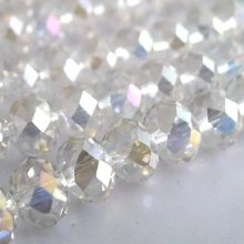 Free Shipping! Wholesale AAA Top Quality Crystal 5040 Rondelle Beads 4mm - Clear AB colour 1000pcs