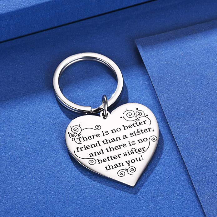Best Sister Heart Pendants Keychain For Women Fashion Accessories Key Chain  Sisters Friendship Keyring Jewelry Birthday Gifts