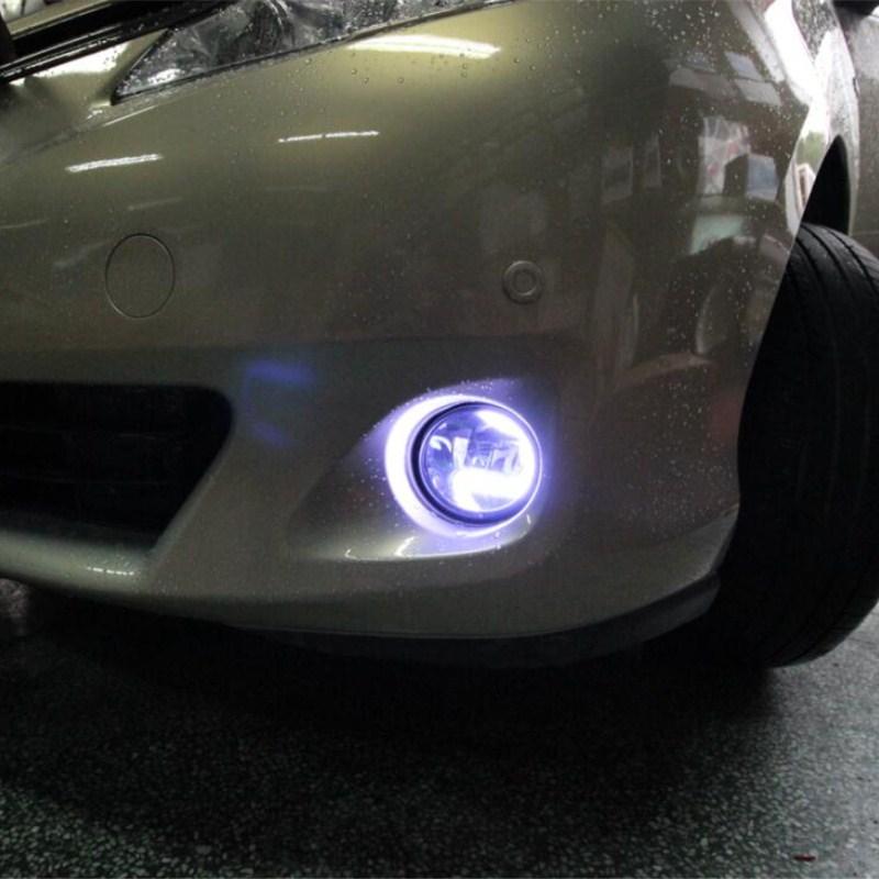 2в1 выделить светодиодные DRL фары дневного света +светодиодные Противотуманные фары для Тойота reiz fj150 спецификации lc150 2010 2011 2012 2013