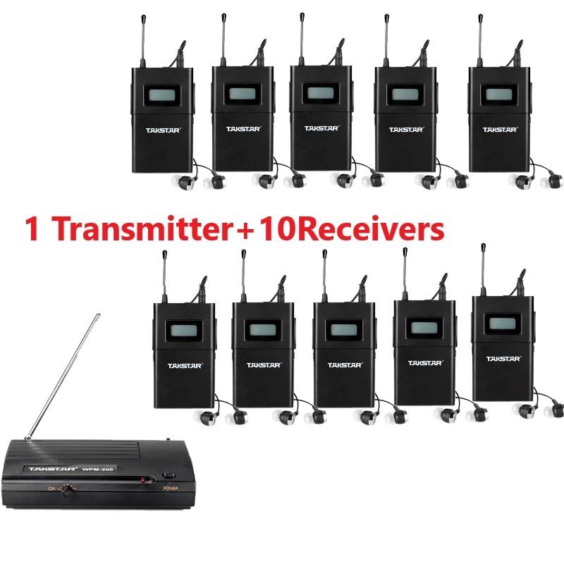 Takstar wpm 200 wpm200 Wireless Monitor System UHF In Ear Stereo Wireless Headset Stage monitors 1