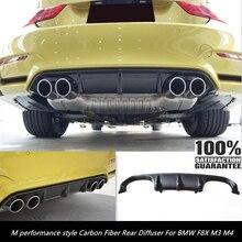 Автомобильный Стайлинг F80 M3 f82 f83 M4 задний диффузор- M Стиль Производительности углеродного волокна рассеиватель задней губы от BMW F8X M3 M4