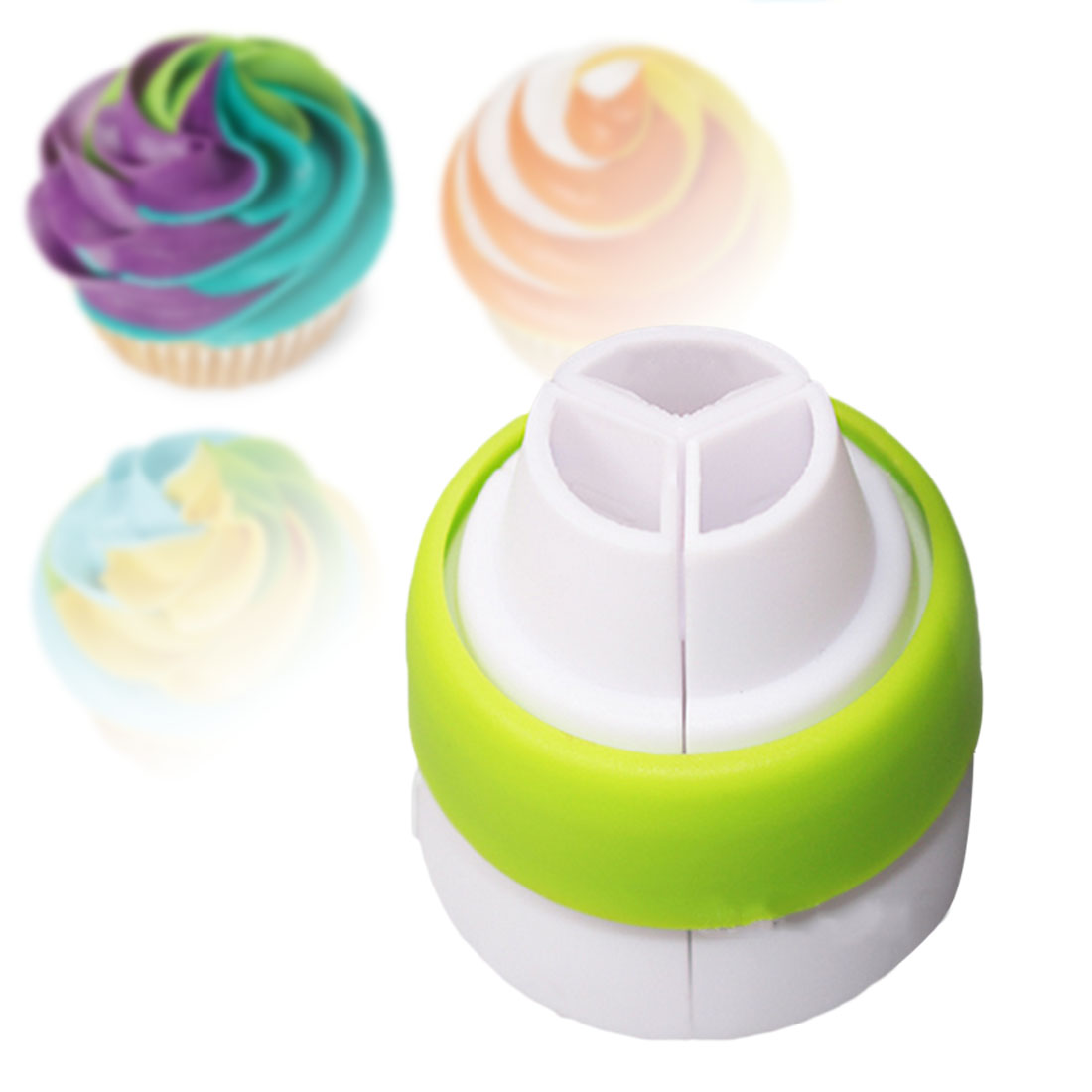 1Pc Icing Piping Bag Nozzle Converter Tri color Cream Coupler Cake Decorating Tools For Cupcake Fondant Cookie|Cake Molds| - AliExpress