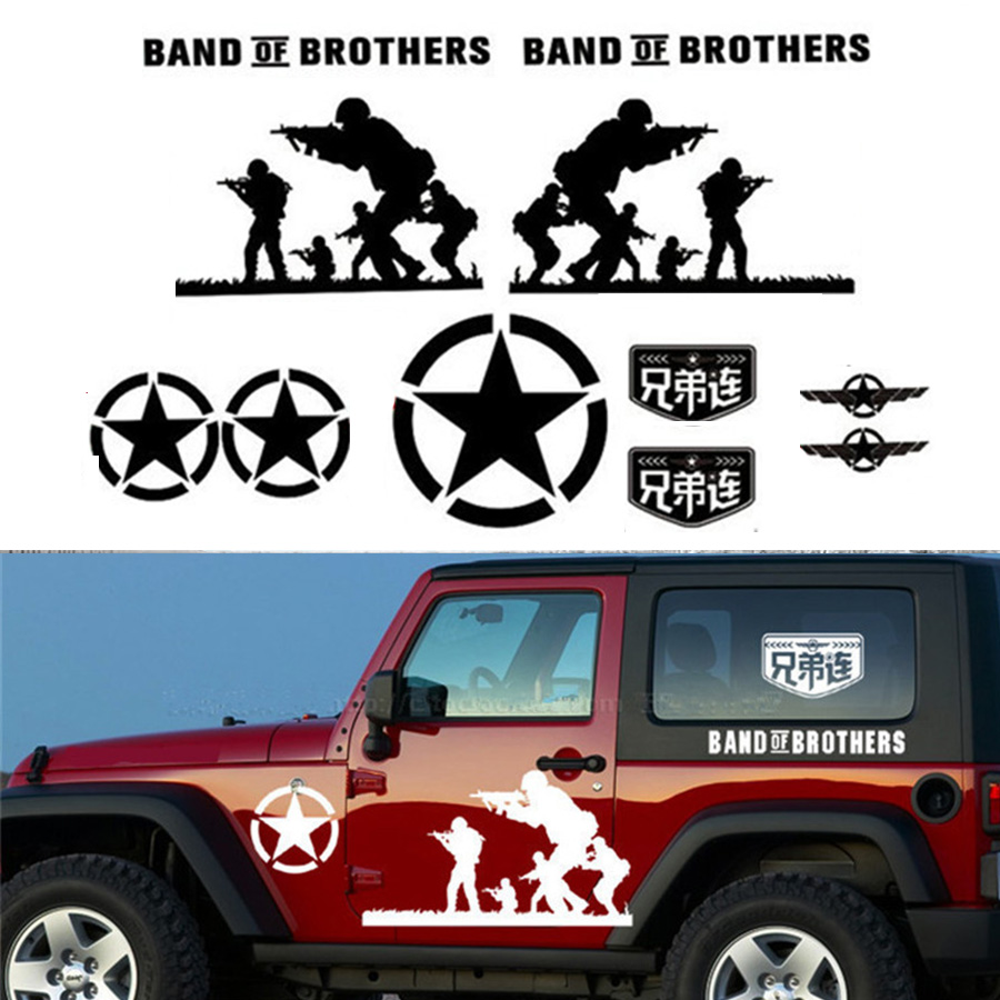 Vinyl band of brothers car sticker custom stickers