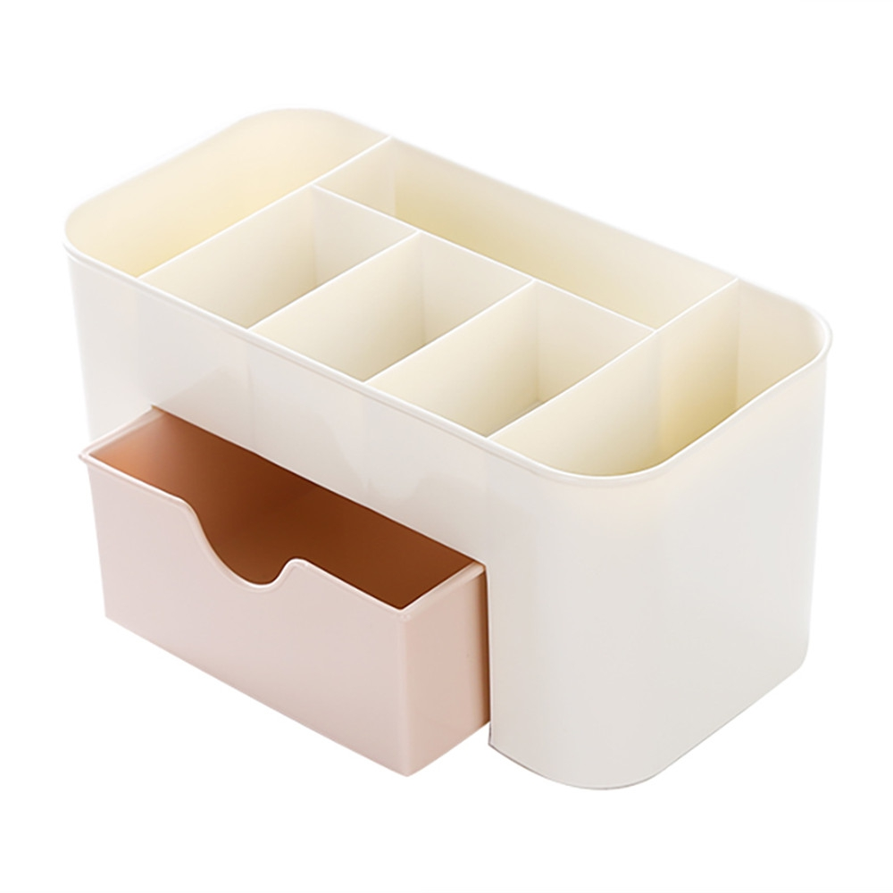 New Lipstick Remote Control Holder Cosmetic Jewelry Organizer Office Storage Drawer Desk Makeup Case Plastic Makeup Brush Box