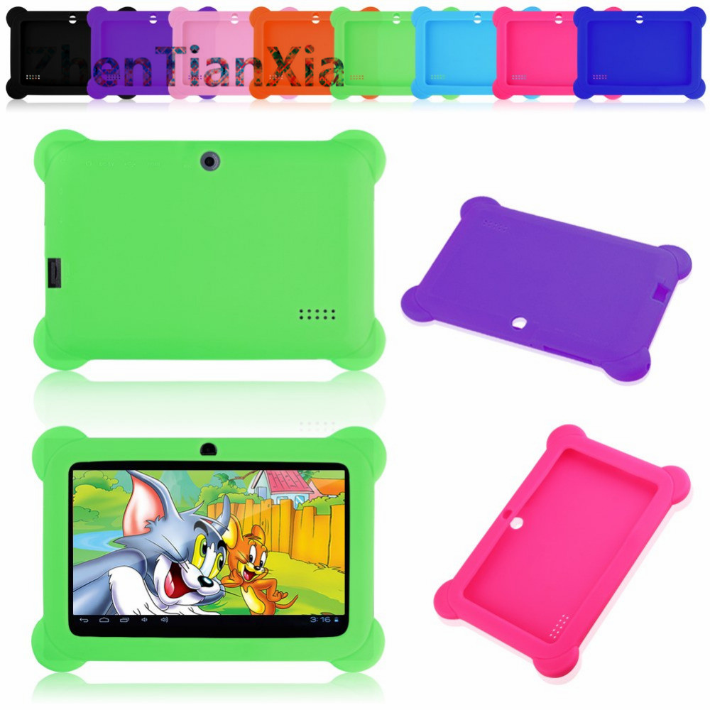 2016 Drop Shipping Anti Dust Kids Child Soft Silicone Rubber Gel Case Cover For Q88 7 Inch Android Tablet PC Kids Gifts