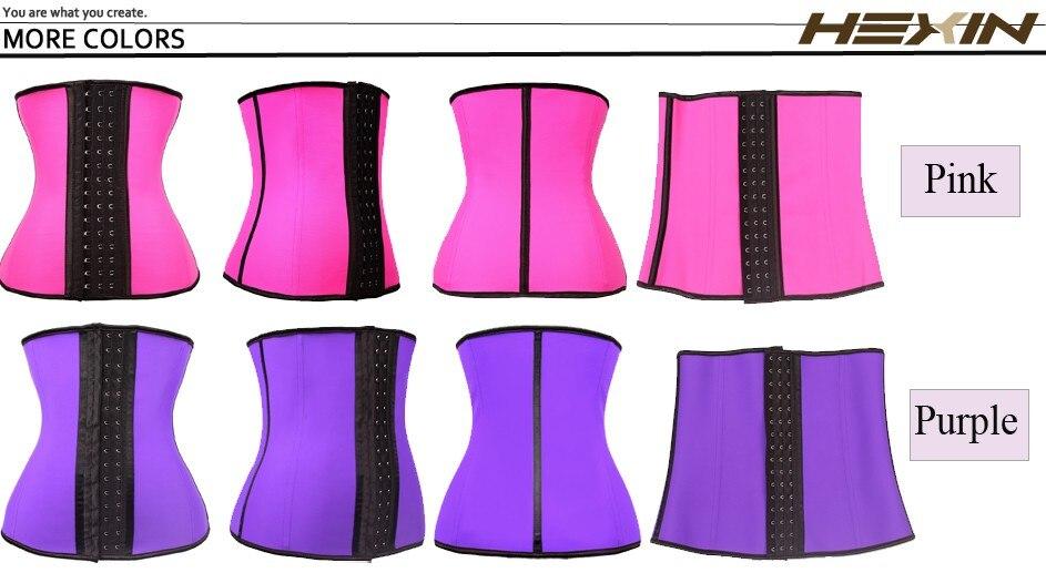 d5b354be5a4 HEXIN 9 Steel Bones 100% Latex Waist Trainer Corset Sexy Women Body Shaper Waist  Cincher