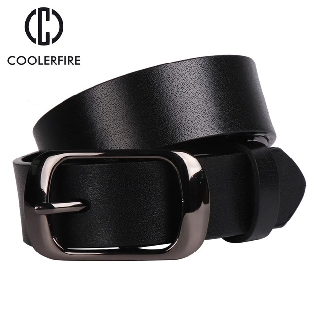 Women's strap casual all-match Women brief genuine leather belt women strap pure color belts Top quality jeans belt