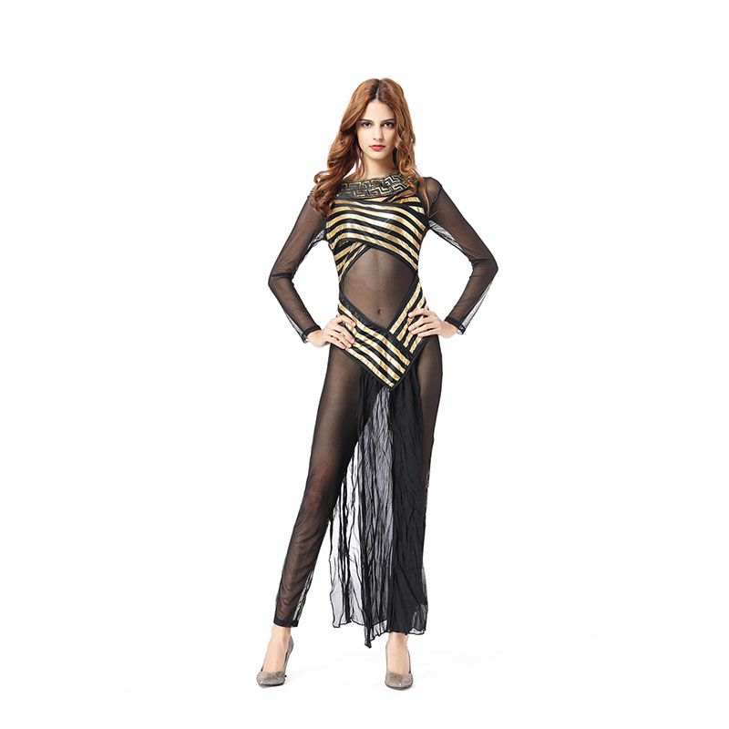 Sexy Deluxe Egyptian Goddess Costume Sexy Deluxe Cleopatra Egypt Womens Halloween Costume Egypt Queen Cosplay Dress