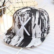 Nuevo Popular X patrón mujeres hombres Hip Hop Cap Snapback sombreros  deportes al aire libre moda Unisex graffiti gorra de béisb. 416a58d8c9d