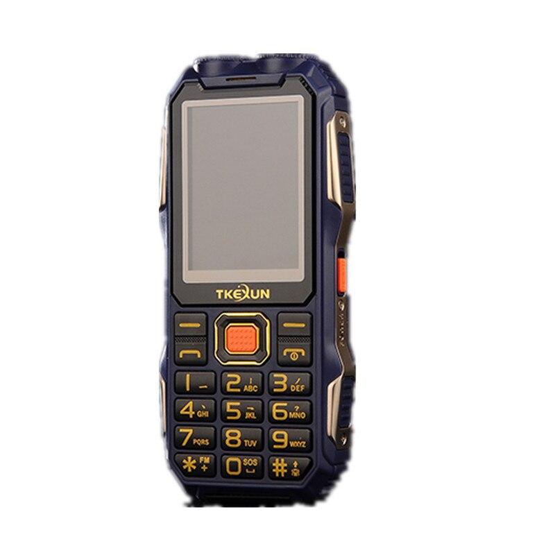 TKEXUN Q8S Energienbank Handy Mit Dual-sim-karte Stoßfest Staubdicht Lange Standby-Outdoor Taschenlampe Große Lautsprecher 2,4 Zoll Telefon
