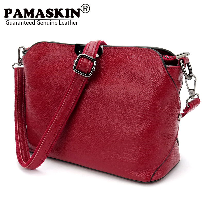 PAMASKIN 2018 Hot Famous Brand Designer Luxury Cow Leather Simply Women Messenger Bags Large Capacity Female One Shoulder Bag maremonti simply one 018 267 492