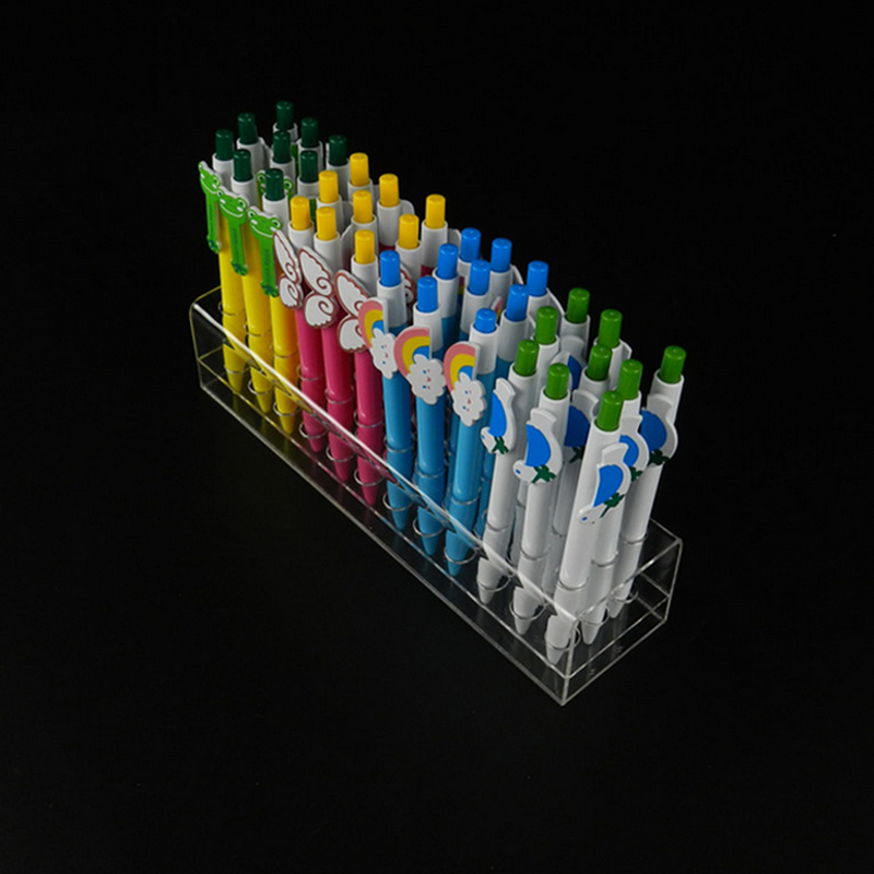 Acrylic 36 Holes Exhibition Stand Ball-point Pen Multi-function Jewelry Display Cosmetics Receive Eyebrow Pencil Box/Shelf