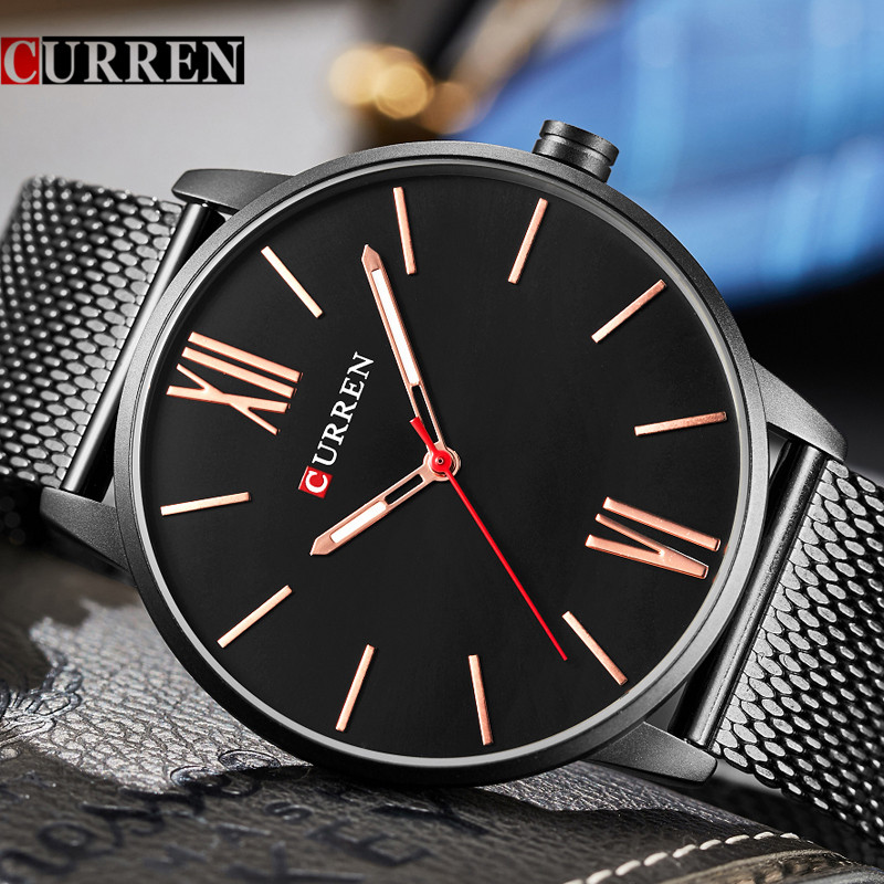 CURREN Watches Men Brand Luxury Mesh Strap Quartz Watch Men's Fashion Casual Sport Wristwatch Relogio Masculino Drop shipping lancaster lancaster легкое молочко великолепный загар spf15