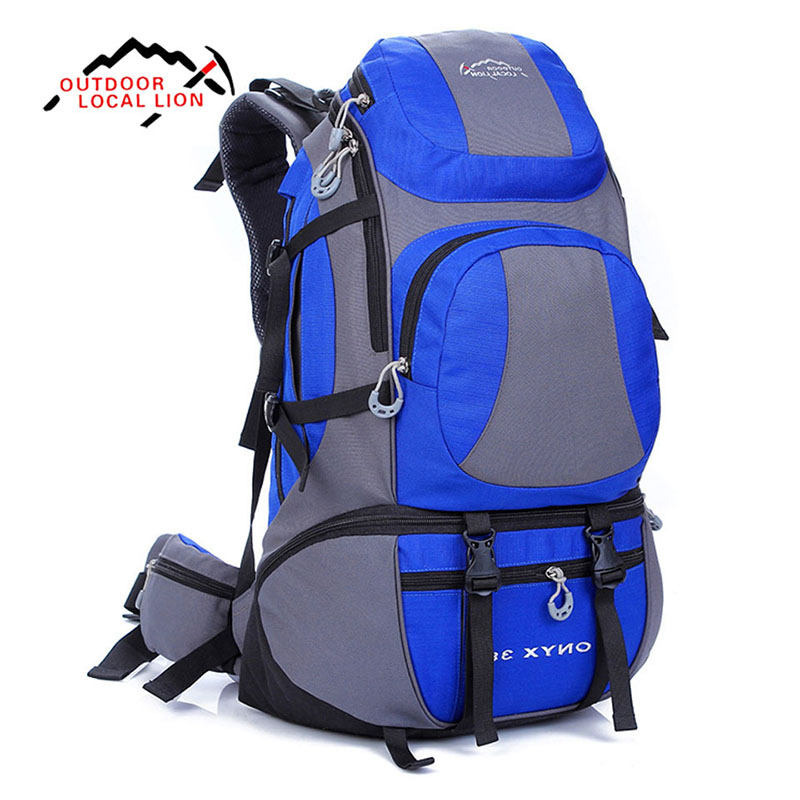 LOCAL LION 38L Outdoor Backpack Outdoor Water Resistant Sport Backpack Hiking Bag Camping Travel Pack Mountaineer Climbing Hike outad 60 5l outdoor water resistant nylon sport backpack hiking bag camping travel pack mountaineer climbing sightseeing hike
