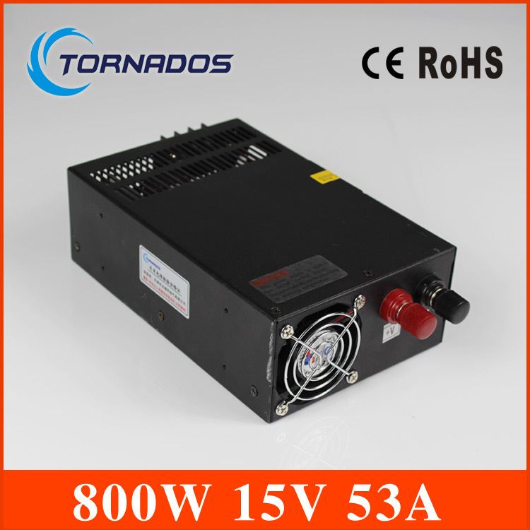 high efficiency 800w 12v ac dc switching power supply high quality switching power supply 15v 800w ac dc converter  indoor led driver For led strip display cctv and 3d printer