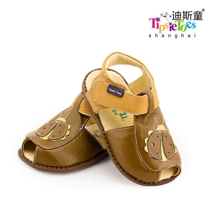 TipsieToes Brand Casual Sheepskin Leather Kids Children Sandals boy New 2018 Summer Fashion 22111 free shipping