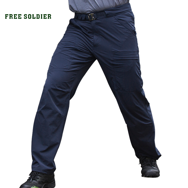 FREE SOLDIER Outdoor sports tactical quick-drying pants male summer slim thin breathable Men's trousers