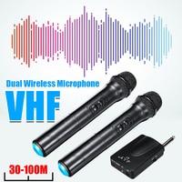 LEORY 2 шт. VHF беспроводной независимый и гибридный автоматический выбор караоке микрофон динамик 2 ручной микрофон KTV плеер