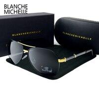 cfcab322f Blanche Michelle 2019 High Quality Pilot Polarized Sunglasses Men UV400  Brand Driving Sun Glasses Male Oculos