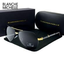 Alta qualidade piloto polarizado óculos de sol dos homens uv400 condução óculos de sol do vintage homem 2020 okulary oculos com caixa Polarized Sunglasses Men