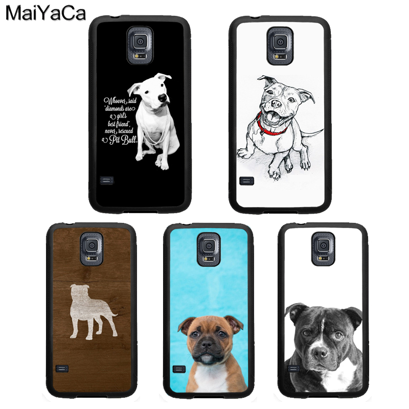MaiYaCa Staffordshire Bull Terrier Staffy Dog Phone Case For Samsung Galaxy S9 S8 S10 Plus Lite S6 S7 Edge Note <font><b>8</b></font> <font><b>9</b></font> <font><b>5</b></font> TPU Cover image