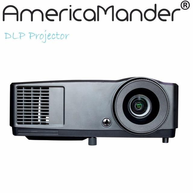 300 inch Full HD Бизнес Обучение 3D Андроид Проектор DLP WIFI Беспроводной Проектор 1280*800 Домашний Кинотеатр Портативный Мини проектор