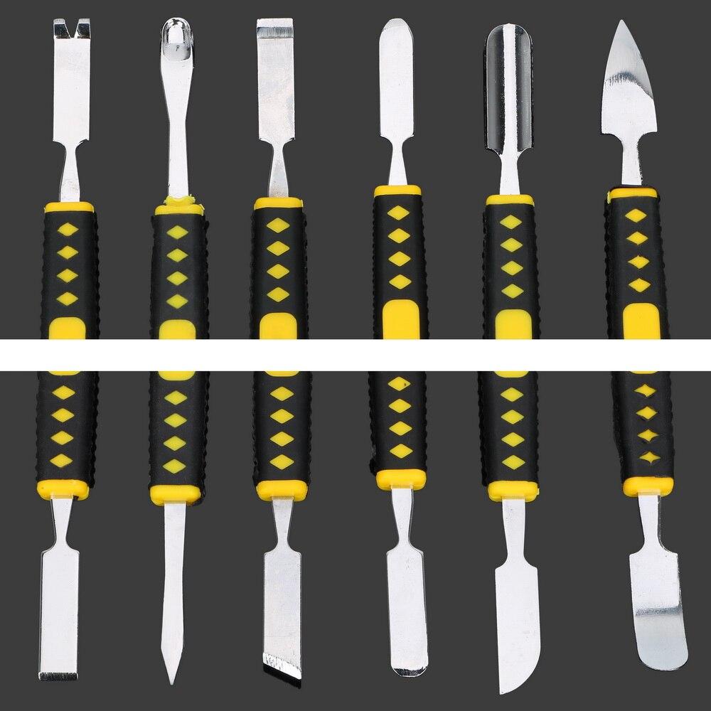DIYWORK 6pcs/set Crowbar Prying Opening Repair Tool kit Dual Heads Metal Spudger Hand Tools Sets For Mobile Phone Notebook