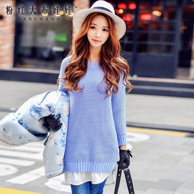 20bc9d9137bb Original vestido de malha 2016 outono inverno nova moda das mulheres  temperamento fino longa camisola por atacado