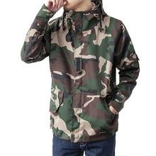 Casual jacken männer camouflage military design mit kapuze winddicht mantel S-XXL AYG166