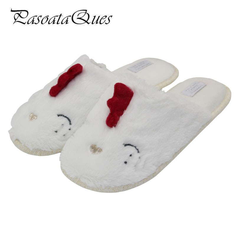 2017 Autumn Winter Women Slippers Cute Comfortable Leisure Home House Indoor Women Shoes PasoataQues Brand TX1716