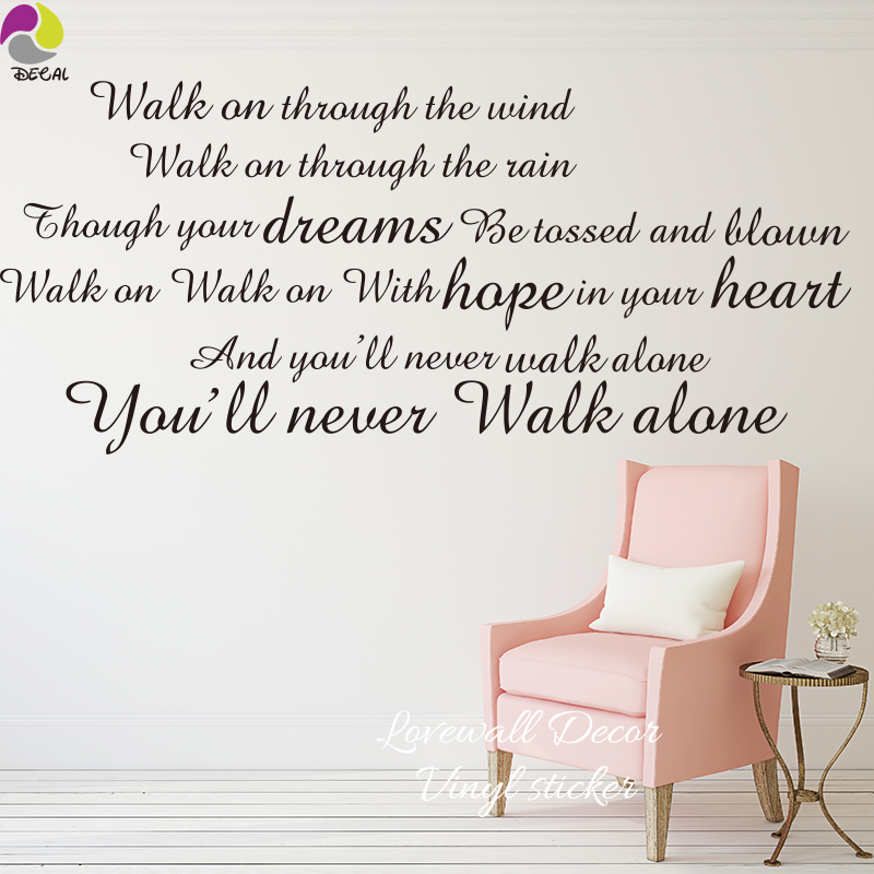 Lyric lyrics you ll never walk alone : Wall Decals Liverpool Reviews - Online Shopping Wall Decals ...