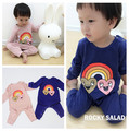 2016 winter BABY Boy clothes baby ROMPERS ins rainbow baby girl clohtes  VESTIDOS reine des neiges KIKIKIDS ins hot christmas