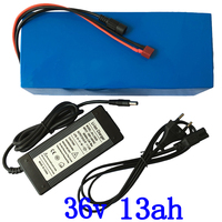 36V battery pack 36V 13AH lithium battery 36V 13ah electric bicycle battery 36v scooter battery with charger free customs fee