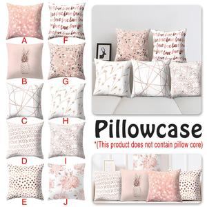 Home Pink Cushion Pillow Cover