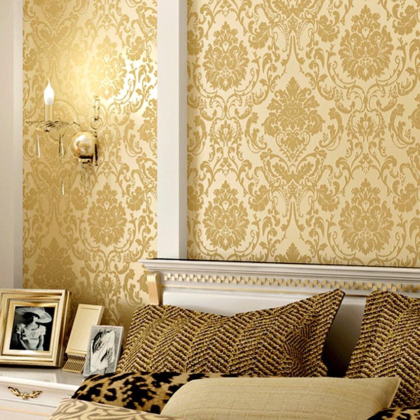 comprar oro europeo moderno papel tapiz para paredes d acuden impresin de pared papel de parede dormitorio de floral d lmina de damasco with papel tapiz