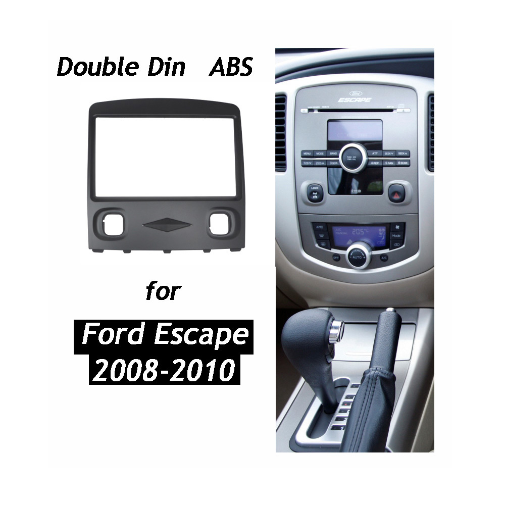 Double Din Stereo Panel For Ford Escape Fascia Radio Refit Dash Mount Aftermarket Installation Trim Kit In Fascias From Automobiles Motorcycles On