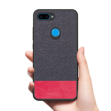 CoolDeal for Xiaomi Mi 8 Lite case Mi8 back cover soft silicone edge shockproof fabric