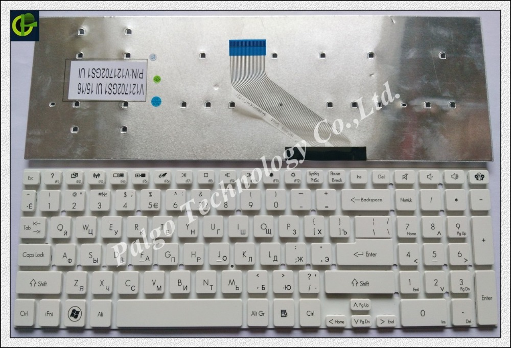 Russian Keyboard for Acer Aspire E1-522 e1-510 E1-530 E1-530G E1-532 E1-532G E1-572 E1-572G E1-731 E1-731G E1-771 White RU цена