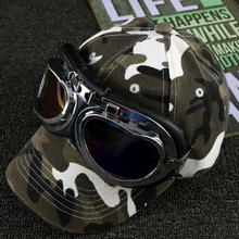 RUHAO Mens Camouflage glasses Baseball Cap 100% Cotton Hat For Girl Boys Casual Sun Men Bone Snapback Caps Pilot hat