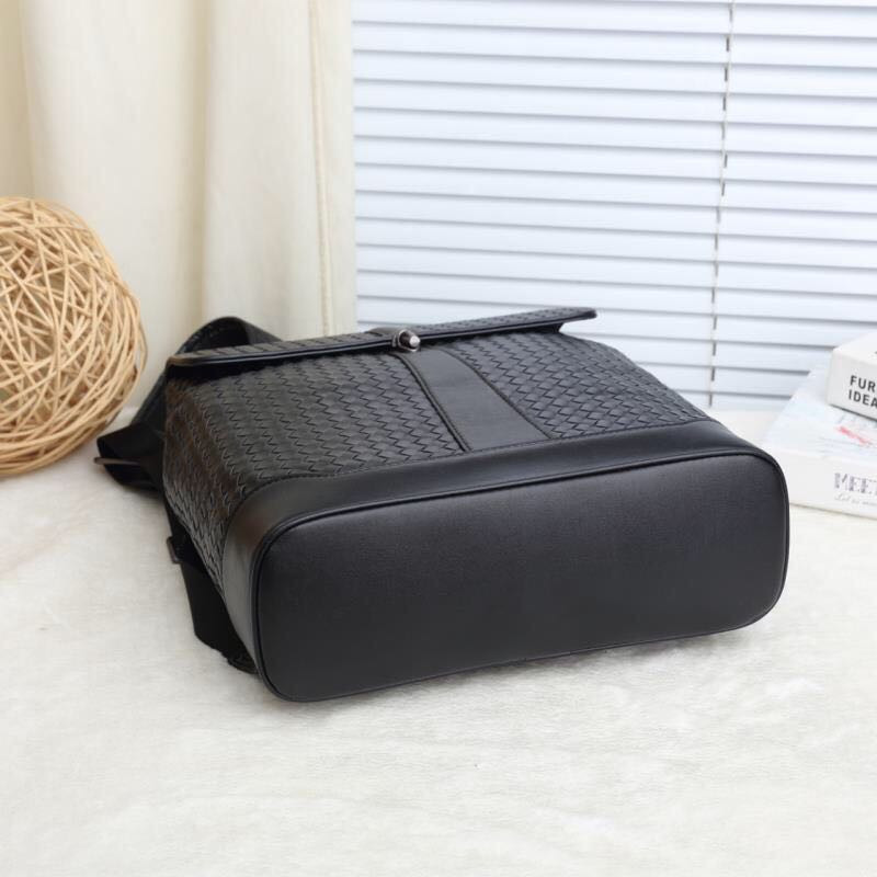 Große Leder Doppel Kapazität Persönlichkeit Woven Tasche Reisetasche Rucksack Rindsleder Schulter Männer Frauen W32h36d11cm Kaisiludi SHqZwH