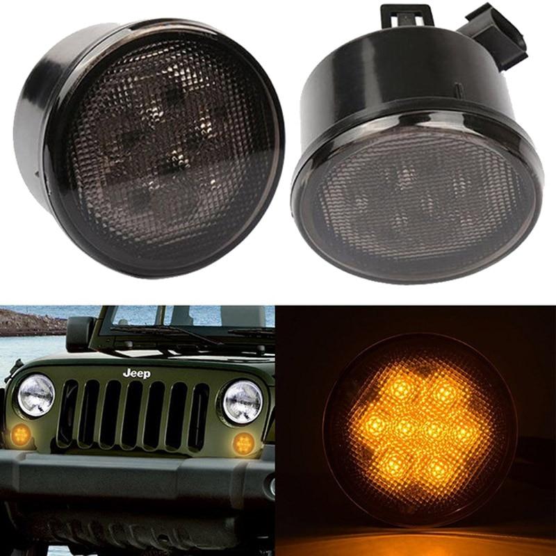 Front Led Turning Signals For Je Ep Wr Angler Jk Fender Flares Lights For Jeep Wrangler
