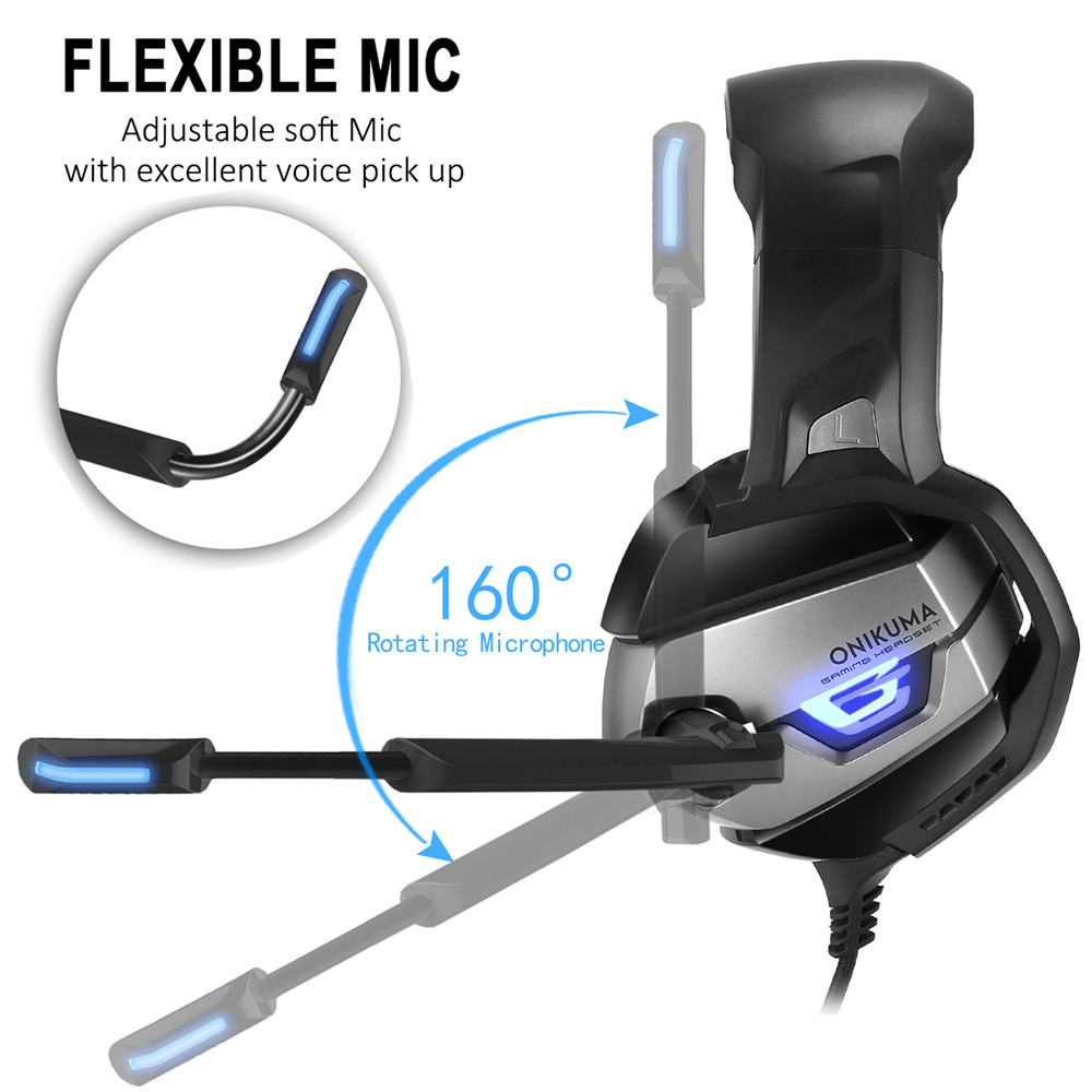 K5 Gaming Headphones 3.5mm Earphone PS4 Headset Game Headphone Casque with Mic for PC playstation 4 Computer Xbox One TabletK5 Gaming Headphones 3.5mm Earphone PS4 Headset Game Headphone Casque with Mic for PC playstation 4 Computer Xbox One Tablet