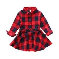 V TREE Baby Girls Dress Spring Plaid Dress For Girl Full Sleeve Fashion School Girls Uniform