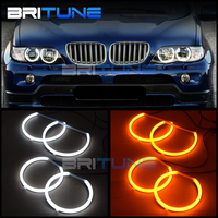 Turn Signal LED Cotton Light Angel Eyes Daytime Running Lights Halo Kit For BMW E53 X5 1999 2003 Automobile Headlight DIY Tuning