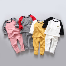 Winter new children 's clothing baby men and women do not fall ultra - soft thermal underwear sets of home service age from 2-5T