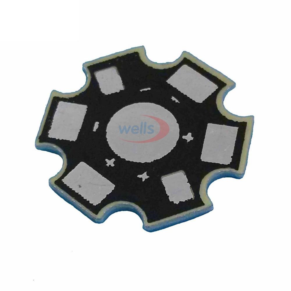 25 500pcs High Power 1w 3w 5w Watt LED Heat Sink Aluminum Base Plate 20 mm LED board KIT DIY high quality star heatsink in Connectors from Lights Lighting